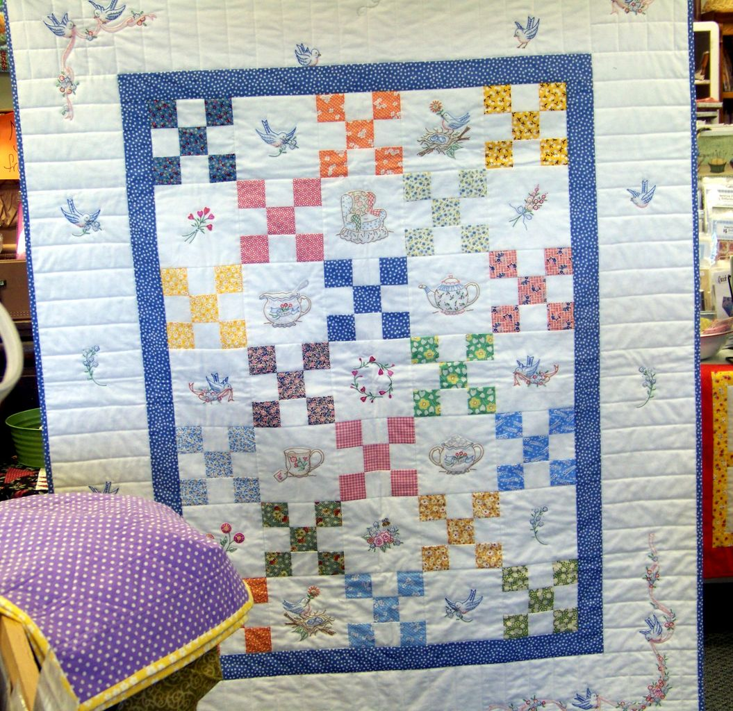 Attic window quilt shop july 2010 for Window quilt