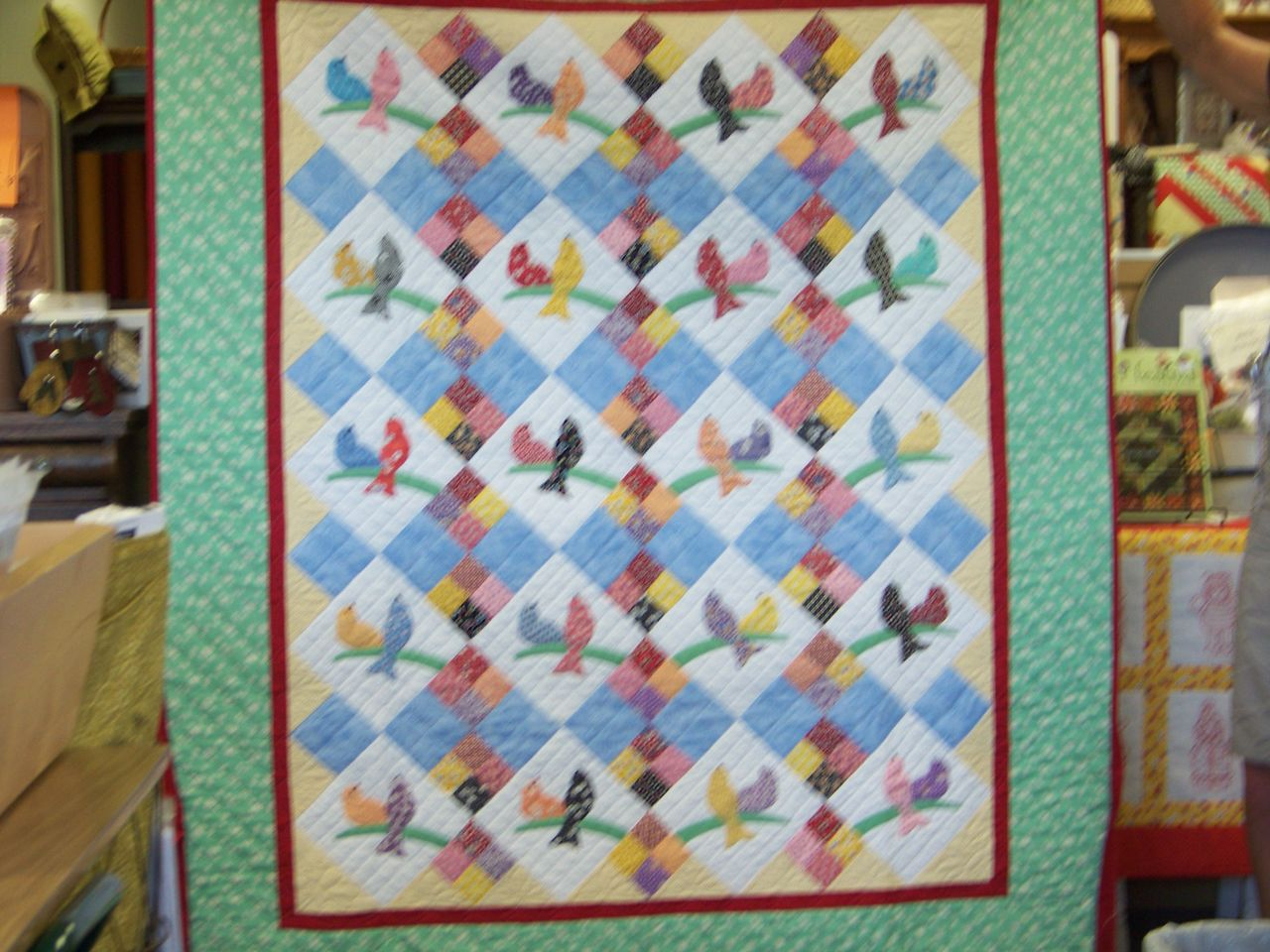 Attic window quilt shop fabric quilts kits books etc for Window quilt