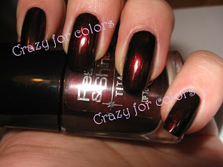 Oreal titanium black ruby 734