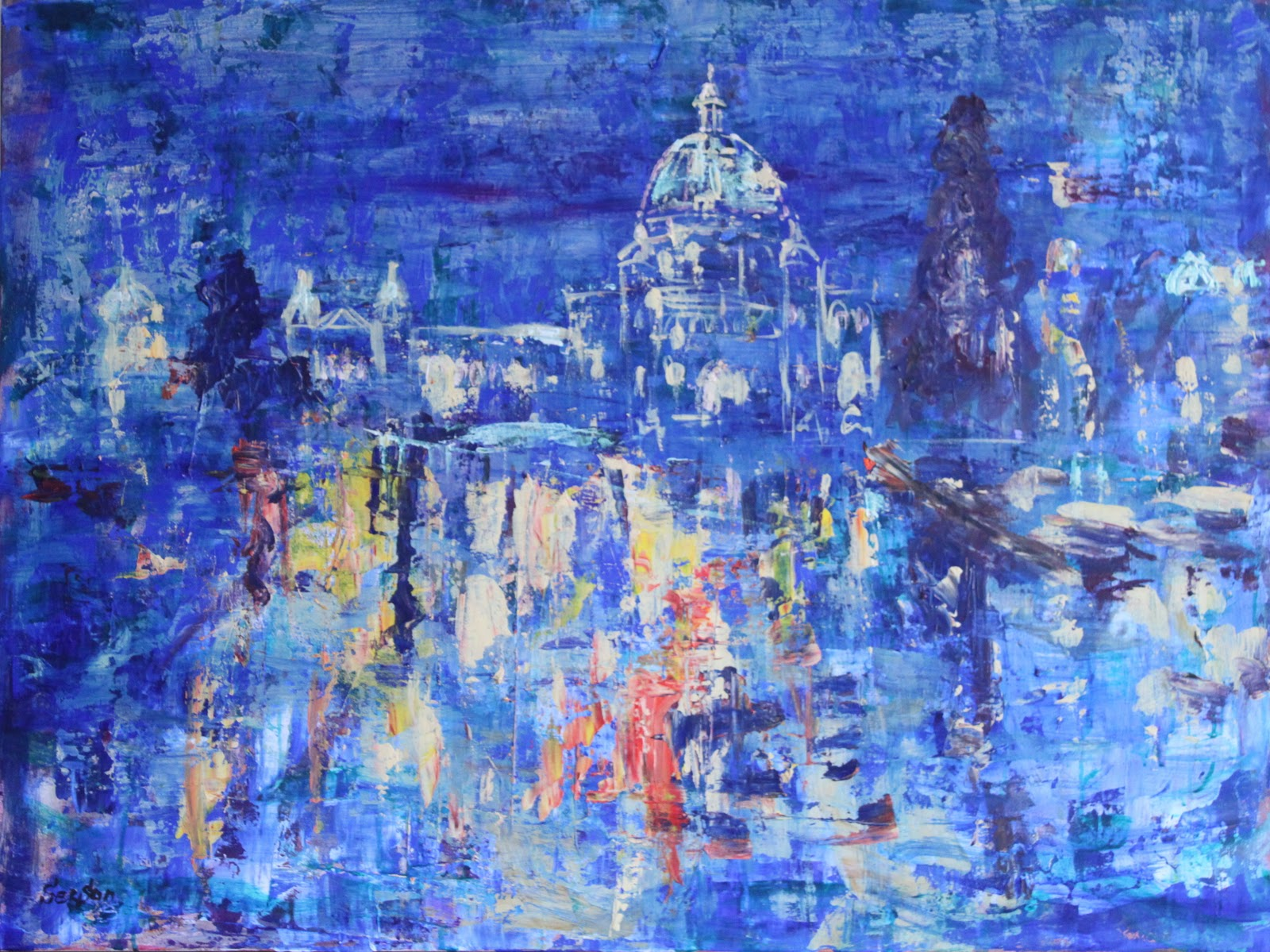 Abstract paintings of buildings the for Most beautiful abstract art
