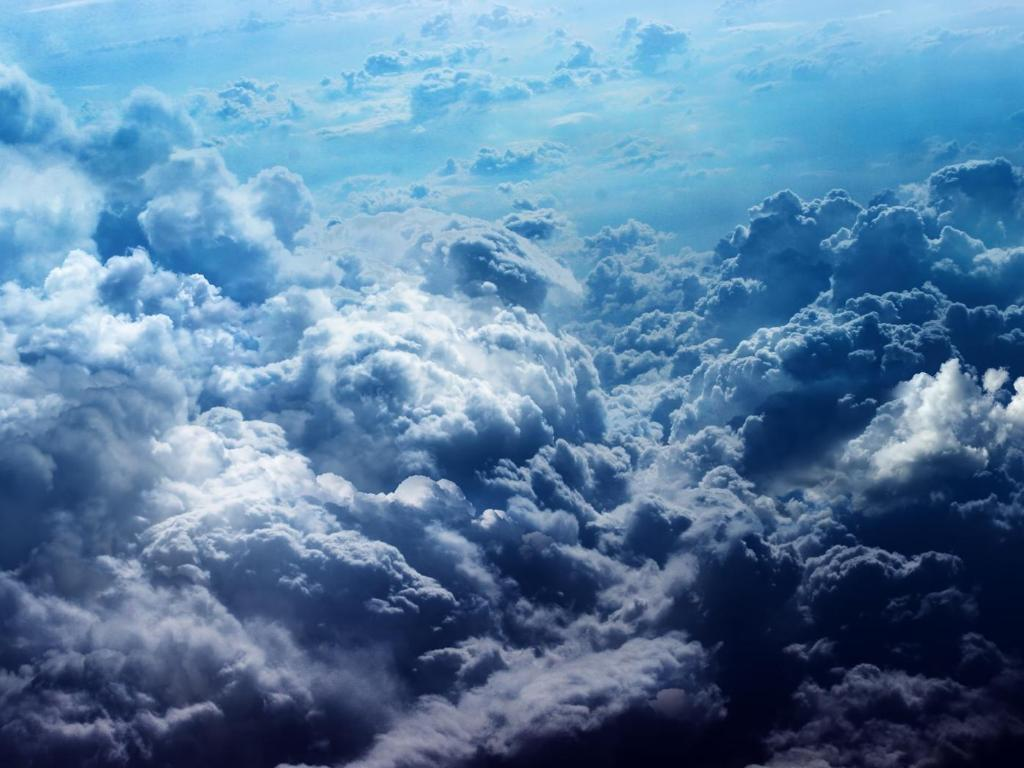 Cool Desktop Sfondo Nuvole Azzurro Blu