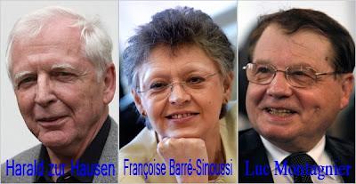 les 3 docteurs recompensés par le prix nobel de medecine 2008