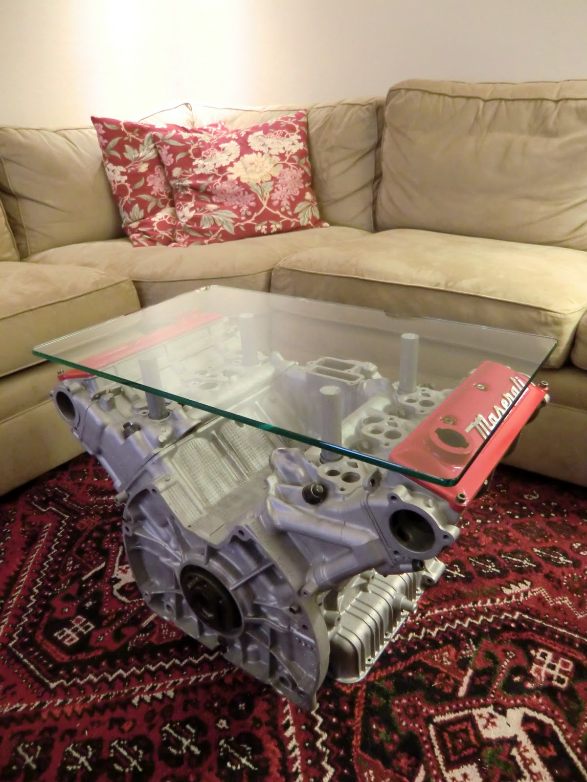 Engine Block Coffee Table For Sale