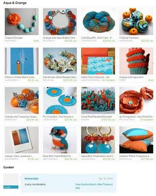 Aqua & Orange Treasury