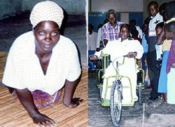 Joven africana gateaba 4 Kms. para participar de Misa dominical