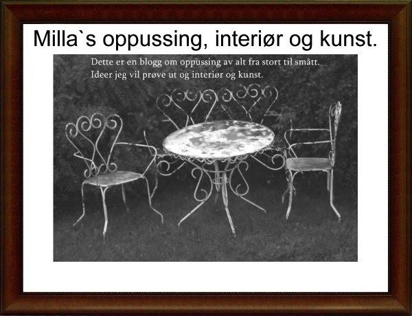 Milla`s oppussing, interiør og kunst