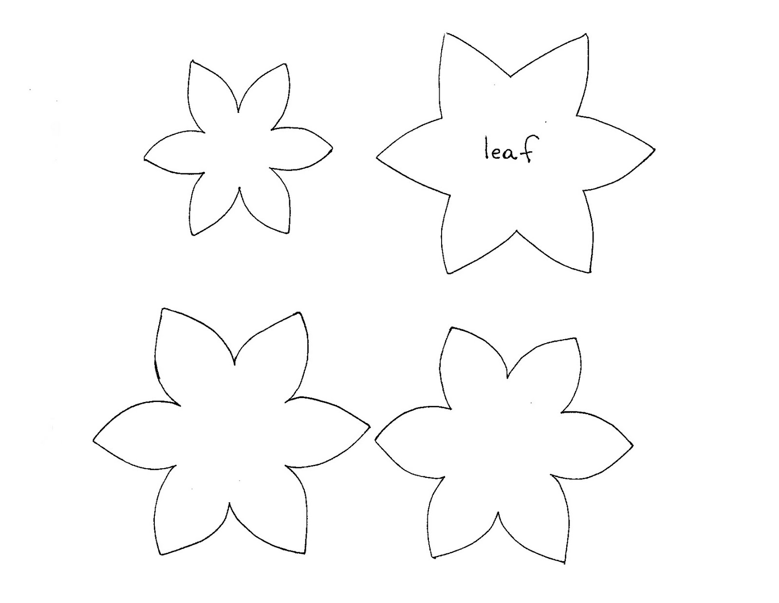 Felt Leaf Template Flower Shape Cut Out Template - Daisy Templates To ...