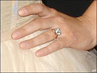 Celebrities with modest engagement rings