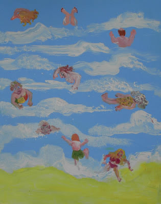 Swimmers in the Sea