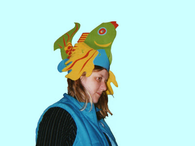 Eloise O'Hare wearing a Fish Hat