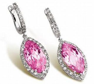 trendy pink diamond earrings - EarRings...................