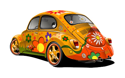 Hippie Car American Cultural Rebel Modification castom VW.Volks Wagen