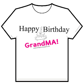 Happy Birthday GrandMA Code No T4U 3