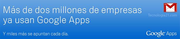 Google Apps, correo gratis para tu empresa