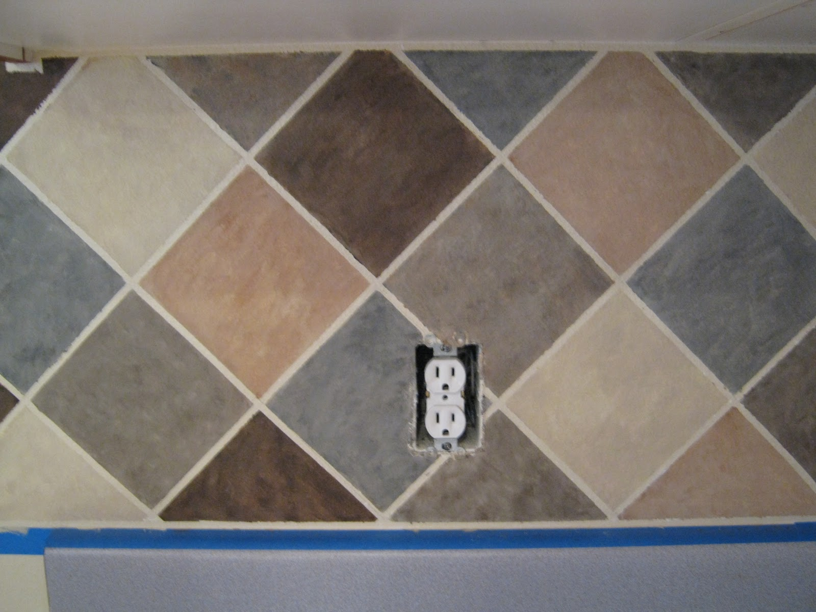 this thrifty house tile looking backsplash on a budget