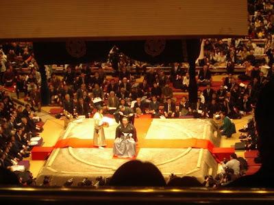 Retiring Takatiuriki Sumo at Ryogoku