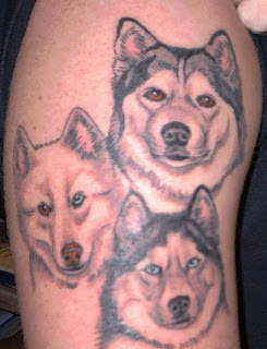 Design Tattoo  Dog  For Body