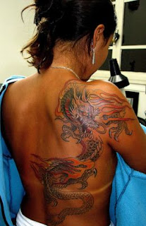 Japanese Women Dragon Tattoo