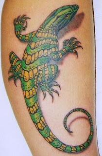 lizard tattoo art