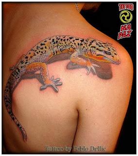 lizard tattoo art design