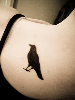 crow tattoo for female