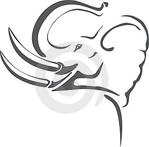 elephant tribal tattoo art