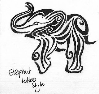 elephant tribal tattoo