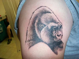 shaded gorilla tattoo