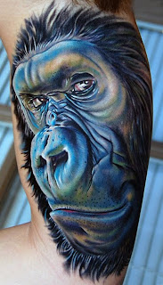 gorilla tattoo art desing