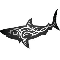 Tribal small shark tattoo