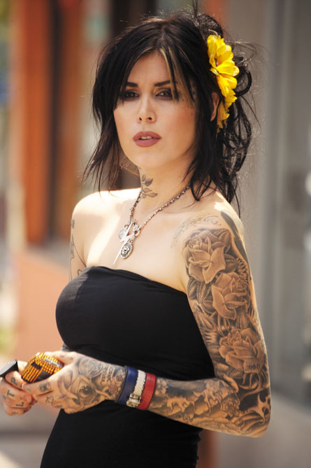 Tattoo Inspiration Particularly like Kat Von D 39s sleeve of roses