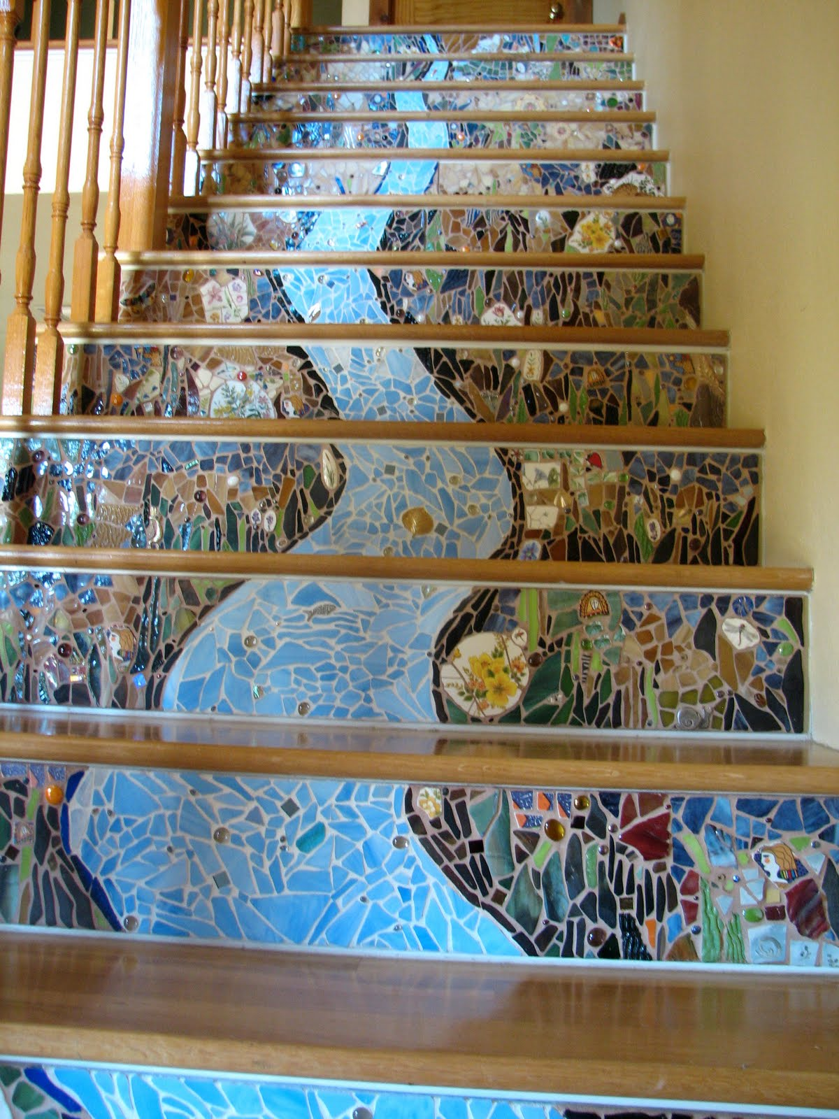 mosaic road bumping up photos of mosaic stairs