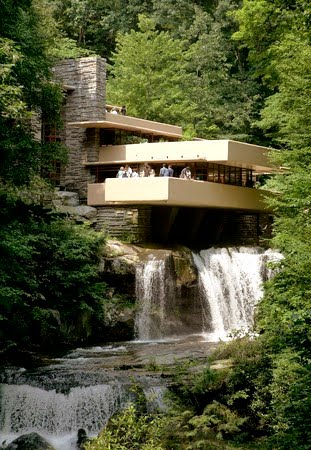 Abiding by love artist 28 frank lloyd wright - La maison sur la cascade ...
