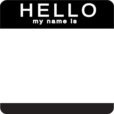 Zany image pertaining to hello my name is printable
