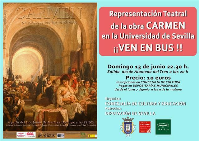 Lora del rio cultura organiza un viaje para ver la - Carmen navarro en sevilla ...