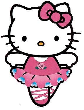 Cartoon clipart april 2010 - Ballerine hello kitty ...