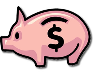 Cartoon Clipart: Piggy Bank Clipart