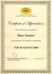 Sijil Penghargaan Dari Nadias Inn Comfort Langkawi