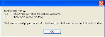 Yahoo Messenger Hider