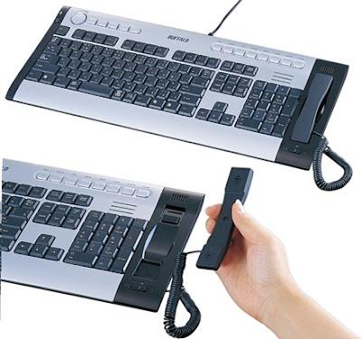 Flexible USB keyboard and Skype Handset