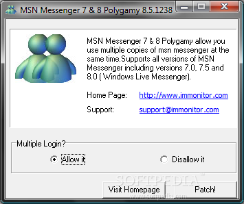 MSN Messenger 7 & 8 Polygamy