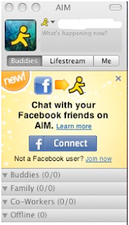 AIM Now Supports Facebook Chat