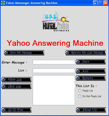 Yahoo Messenger Answering Machine