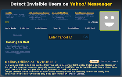 Detect Invisible Yahoo Messenger Buddies - Detectinvisible.com