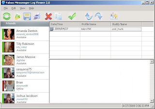 Yahoo Messenger (MSN) Log Viewer Screenshot
