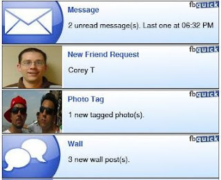 fbquick - Quick and Easy Facebook Notifier for your Desktop