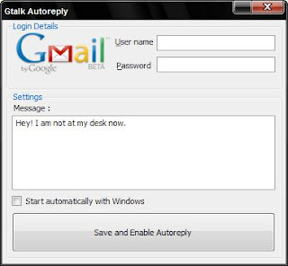 Gtalk Autoreply - Answering Machine for Google Talk