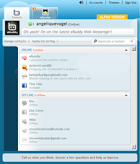 New Ebuddy Web Messenger (Alpha) Screenshot