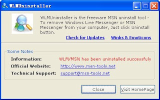 WLMUninstaller - Completely Remove Windows Live Messenger from Your Computer