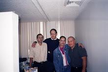 Mis amigos Ivan Facio, Alex Rocha y Mireya